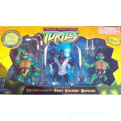 Confezione 3 Ninja Deluxe Michelangelo - Raffaello - Soldato del piede