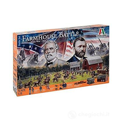 Diorama Guerra Civile americana. Farmhouse Battle 1/72 (IT6179)