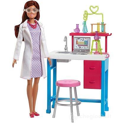 Laboratorio di Scienze con Piano di Lavoro Ampolle Provette e Accessori (Barbie non inclusa)(FJB28 )