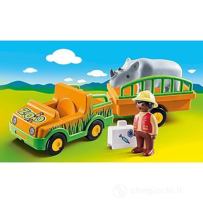 Veicolo 2 Con 1 Rinoceronte Zoo 370182Playmobil uTJ3F1c5Kl