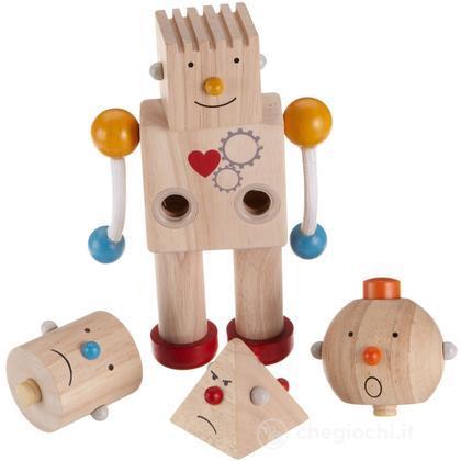 Robottino con testa in varie forme geometriche (4205183)