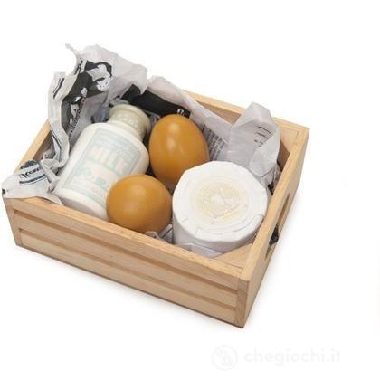 Cassetta uova latte e formaggio (TV185)