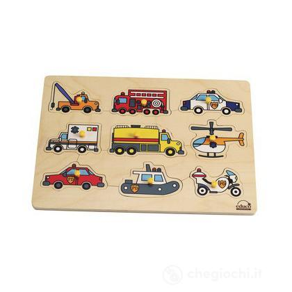 Puzzle a incastro - I veicoli di soccorso