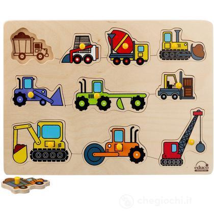 Puzzle a incastro - Le macchine da costruzione