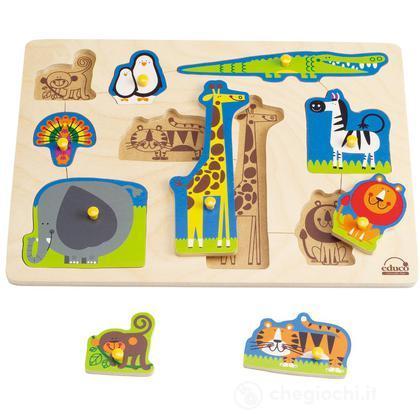 Puzzle a incastro - Gli animali della foresta