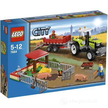 LEGO City - Trattore con rimorchio e maialini (7684)