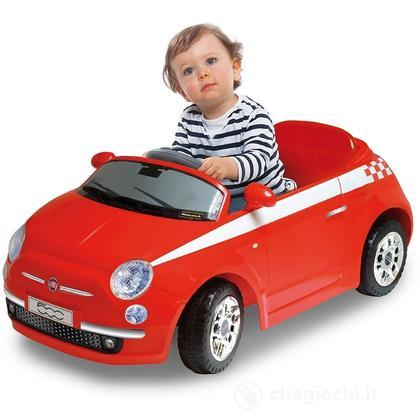 Baby Car Fiat 500 Radiocomando Deluxe Colore Rosso (501968)