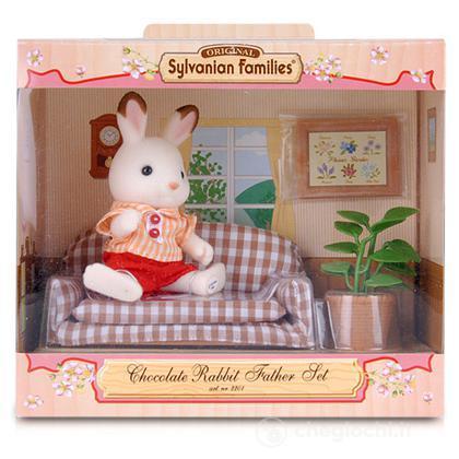 Pap coniglio cioccolato con divano playset e bambole in for Divano 69 euro