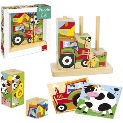 Puzzles Cubi Fattoria (55203)