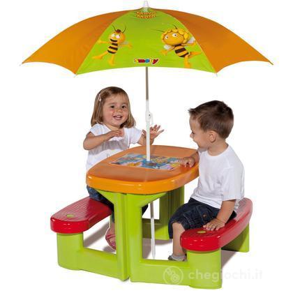 Tavolo da Pic Nic l'ape Maia con ombrellone