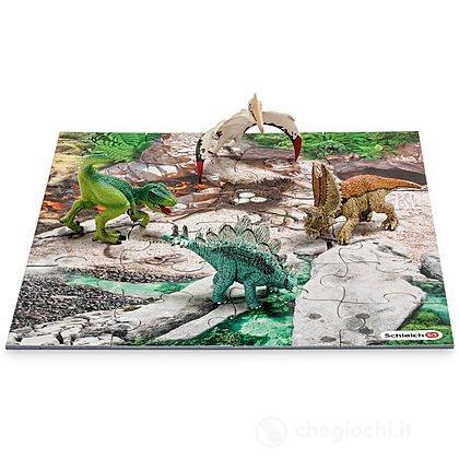 Mini dinosauri con Puzzle Esploratori (42213)