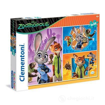 Puzzle 3x48 pezzi - Zootropolis