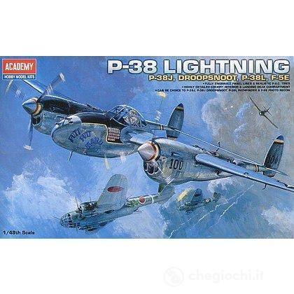 Aereo P-38 J/L/Droop Snoot/F5E 1/48 (AC12282)