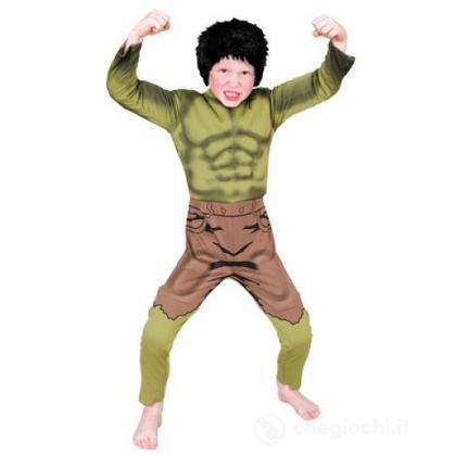 Costume Hulk con muscoli taglia S