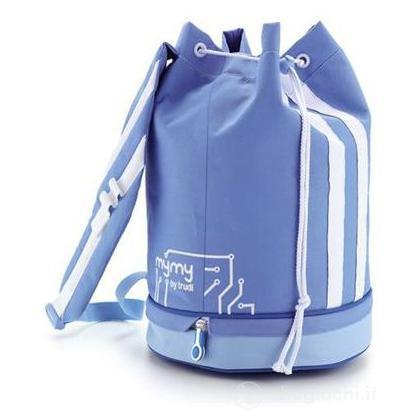 Sacca sportiva azzurro