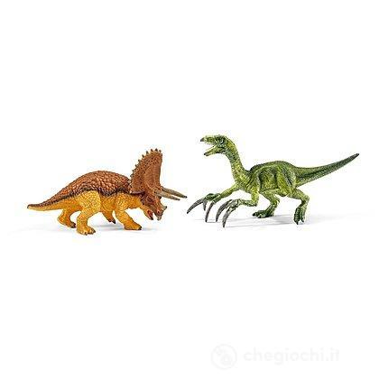 Triceratopo e Terizinosauro piccoli (42217)