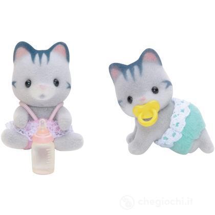 Gemelli gatti grigi (3220)
