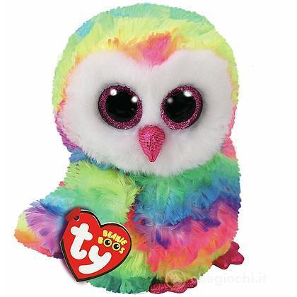 Peluche Owen - Gufo Multicolori 15 cm Beanie Boo (37221)