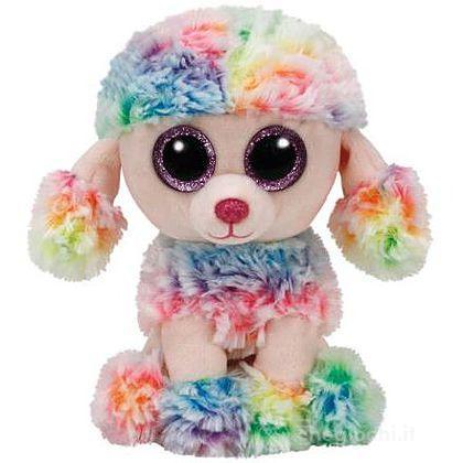 Peluche Rainbow - Barboncino Multicolori 15 cm Beanie Boo (37223)