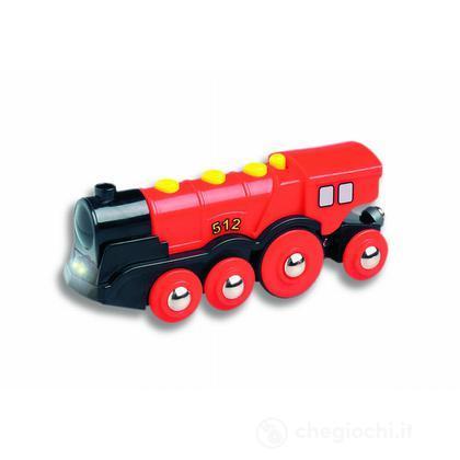 Grande locomotiva elettrica rossa
