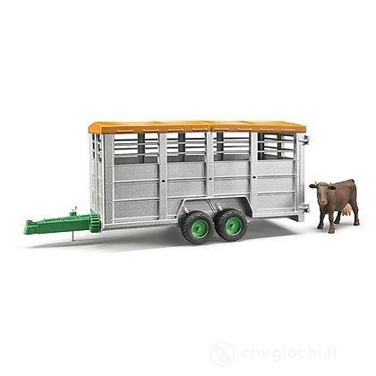 Rimorchio trasporto animali con 1 mucca (02227)