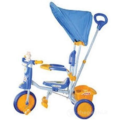 Triciclo con cappottina Blu (OT1022)