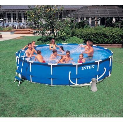 Piscina frame cm 457x91 pompa f scala telo base copertura 28232 piscine intex - Riparazione telo piscina ...