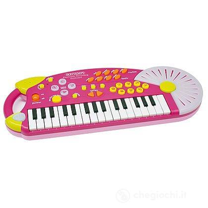Tastiera elettronica 32 tasti con registrazione vocale rosa (KR3271)