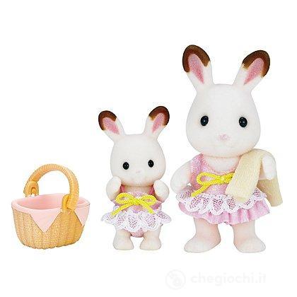 Set 2 sorelline coniglio costume bagno (5233)