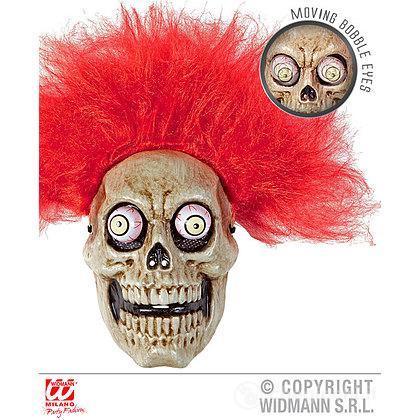 Maschera teschio con parrucca
