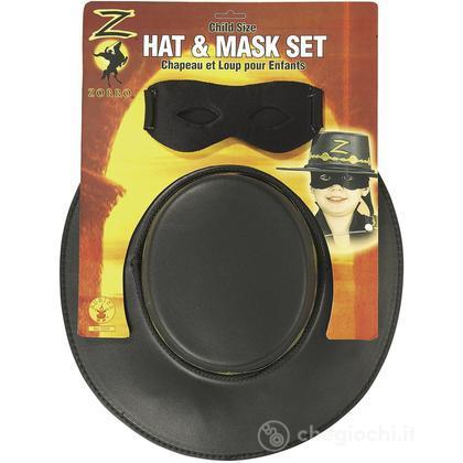 Set cappello e maschera Zorro (R05234)
