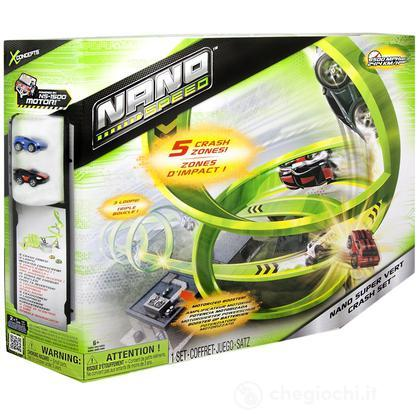 Super Vert Crash Set - Pista con 2 Nano Cars Incluse