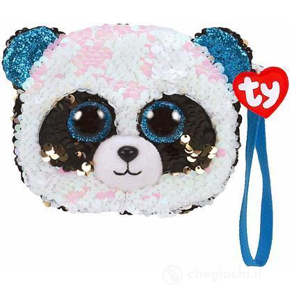Bamboo Sequin Portamonete Panda glitter