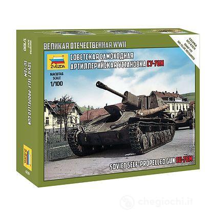 Carro Armato SU-76M Soviet S.P.Gun Scala 1/100 (ZS6239)