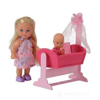 Evi Love. Bambola con bambino, culla e accessori (105736242)