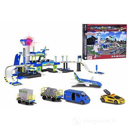 Majorette Mega Set Aereoporto con 5 veicoli luci e suoni (212050018038)