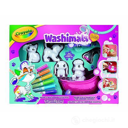 Washimals Set Attività, per Colorare e Fare il Bagnetto ai Cuccioli
