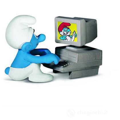 Puffo al computer (40249)