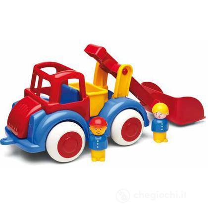 Jumbo camion con  accessori - trattore con ruspa con 2 personaggi