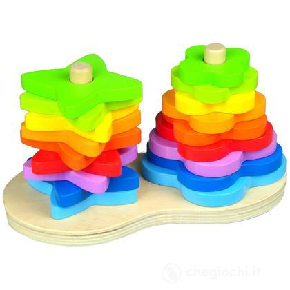 Doppio arcobaleno impilabile (E0406)