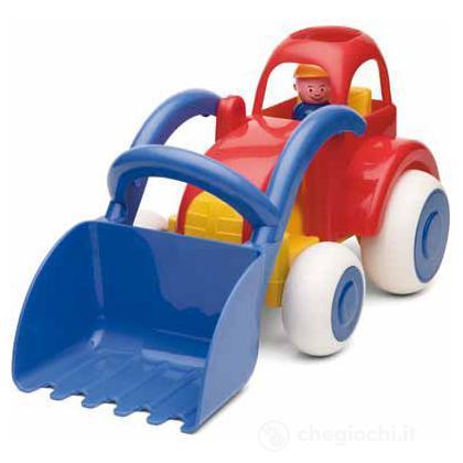 Jumbo camion con  accessori - trattore con ruspa con 1 personaggio