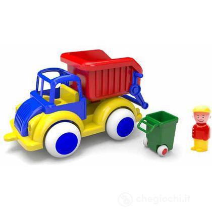 Jumbo camion con accessori - camion nettezza urbana con 1 personaggio