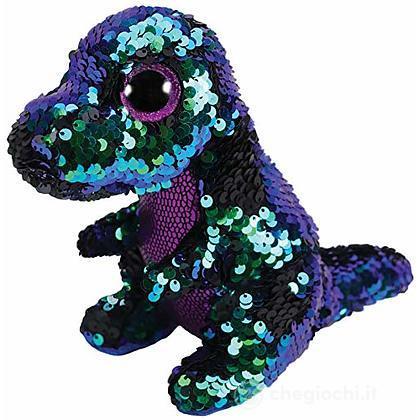 Peluche dinosauro glitter paillettes 15 cm