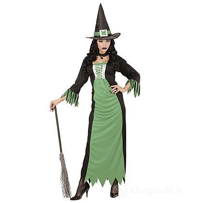 Costume Adulto Strega verde S