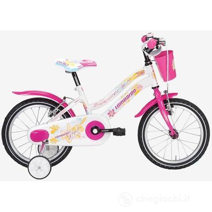 """Bici 16"""" Akira White/Pink"""