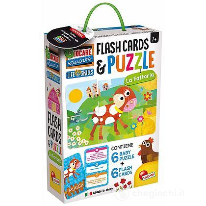Baby Puzzle + Flash Cards Fattoria (72699)