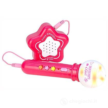 Microfono Karaoke con amplificatore rosa (42 4171)