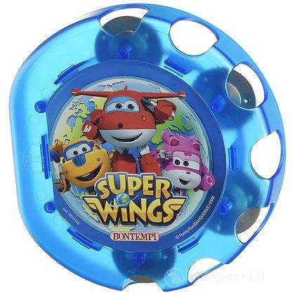 Tamburello con cimbali (colori assortiti semitrasparente blu e giallo). SuperWings (541869)