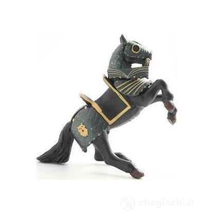 Cavallo cavaliere armatura nera (39276)