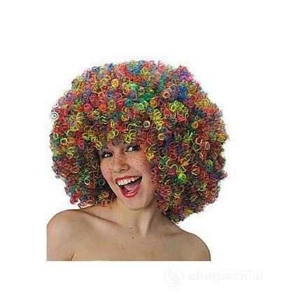 Parrucca clown multicolore